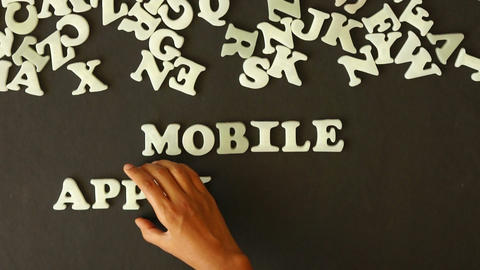 Mobile Applications Stock Video Footage