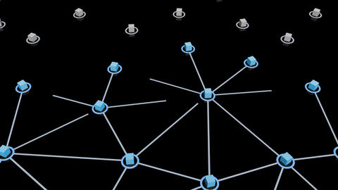Social Network Connection E 1m 2 Stock Video Footage