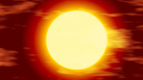 Burning Sun Stock Video Footage