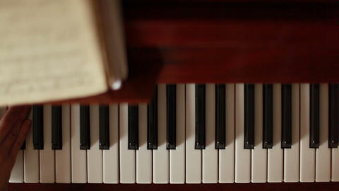 Piano, hands pianist playing music Stock Video Footage