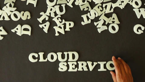 Cloud Service stock footage
