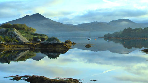 idyllic lake in ireland at ring of kerry Stock Video Footage