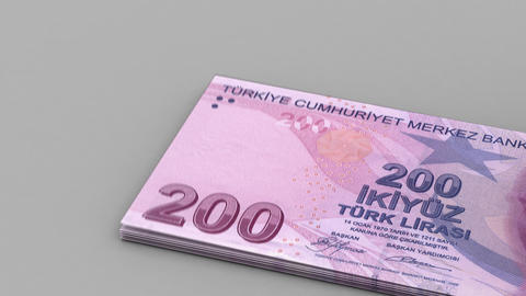 Counting Turkish Lira Stock Video Footage