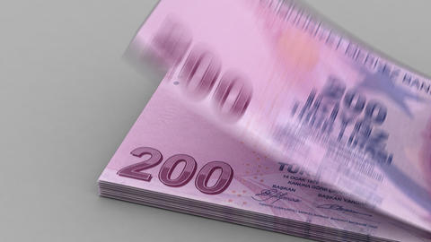 Counting Turkish Lira Animation