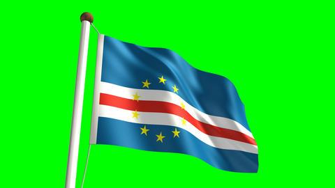 Cape Verde flag Stock Video Footage