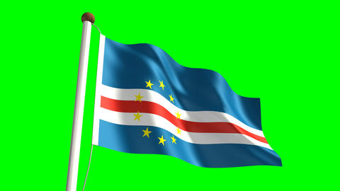 Cape Verde flag Animation