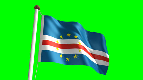 Cape Verde flag Stock Video Footage