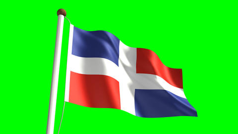 Dominican Republic flag Animation