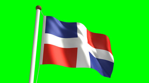 Dominican Republic flag Stock Video Footage