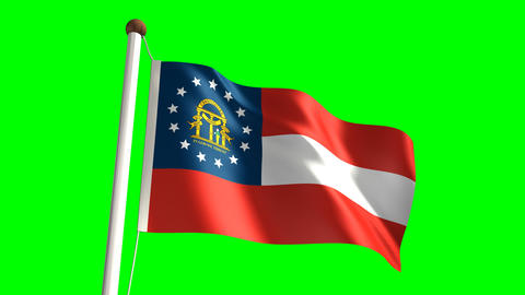 Georgia flag Stock Video Footage