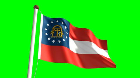 Georgia flag Animation