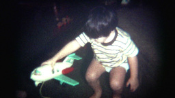 Vintage Film Christmas Morning Gifts Stock Video Footage
