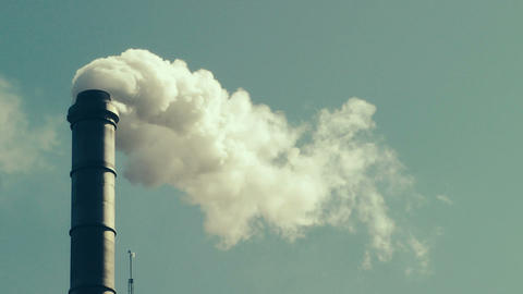 Factory Smokestack Stock Video Footage