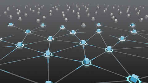 Social Network Connection E 4b 2 HD Stock Video Footage