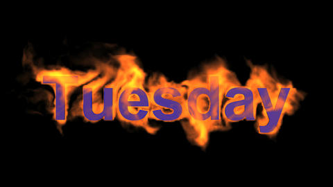 flame tuesday word,fire week text Stock Video Footage