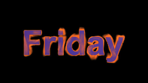 flame friday word,fire week text Stock Video Footage