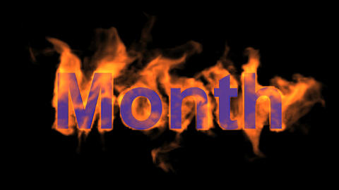 flame month word Stock Video Footage