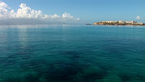 azure waters of the Aegean Sea Stock Video Footage
