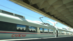 High-speed commuter train Stock Video Footage