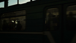 Train arrival at the metro station Stock Video Footage