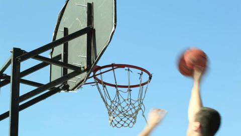 Basketball backboard Stock Video Footage