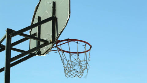 Basketball backboard Stock Video Footage