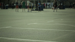 Sport activities in a city park. Blured Stock Video Footage