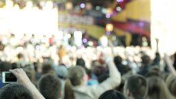 People cheering at concert 2 Stock Video Footage