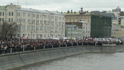 Demonstration in Moscow Footage