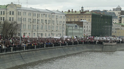 Demonstration in Moscow Stock Video Footage