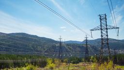 Electricity pylon, Time Lapse Stock Video Footage