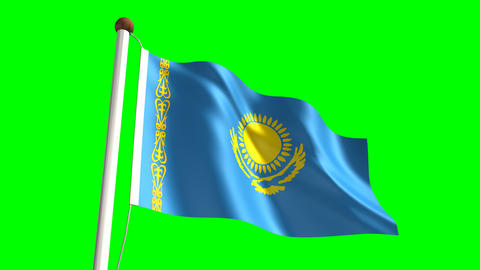 Kazakhstan flag Animation