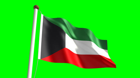 Kuwait flag Stock Video Footage