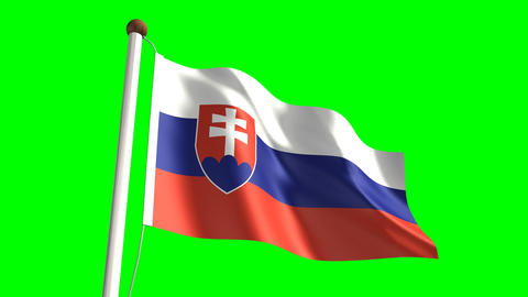 Slovakia flag Animation