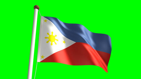 Philippines flag Stock Video Footage