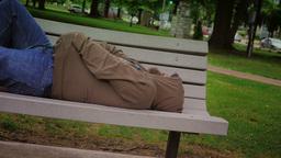 Homeless Man Stock Video Footage