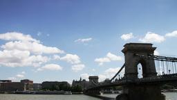 4 K Chain Bridge Budapest Hungary Timelapse Daytim Footage