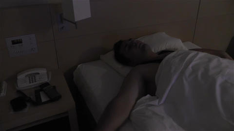 Men Sleeping 3 nightmare Stock Video Footage