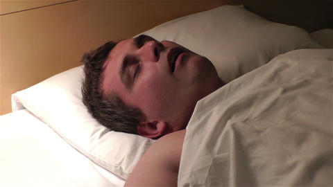 Men Sleeping 5 snoreing Stock Video Footage