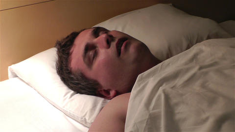 Men Sleeping 5 snoreing Footage