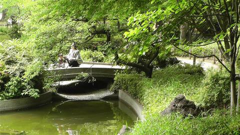 Park in Yokohama Japan 4 Stock Video Footage