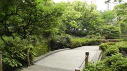 Park in Yokohama Japan 6 Stock Video Footage