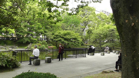Park in Yokohama Japan 10 Stock Video Footage
