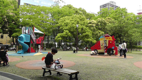 Playground in Yokohama Japan 1 Stock Video Footage