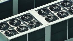 Rooftop Ventilators 1 Stock Video Footage