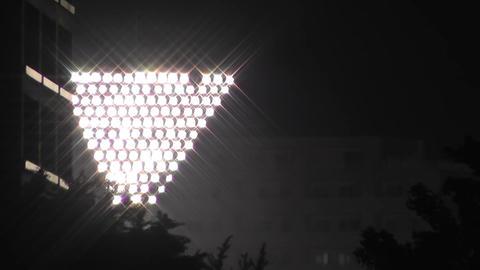 Stadium Lights at Night Stock Video Footage