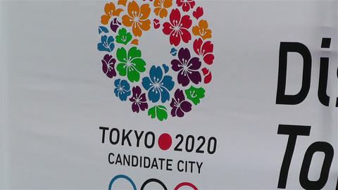 Tokyo 2020 Olympic Games Canditate Flags 9 Stock Video Footage