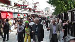 Tokyo Asakusa Japan 1 native slowmotion Stock Video Footage
