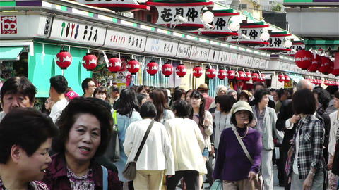 Tokyo Asakusa Japan 3 Stock Video Footage