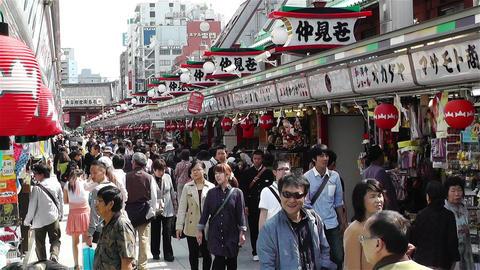 Tokyo Asakusa Japan 5 Stock Video Footage
